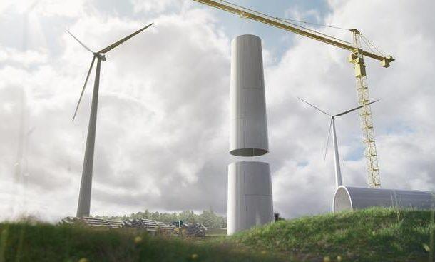 ساخت پایه توربین بادی از چوب توسط یک شرکت سوئدی