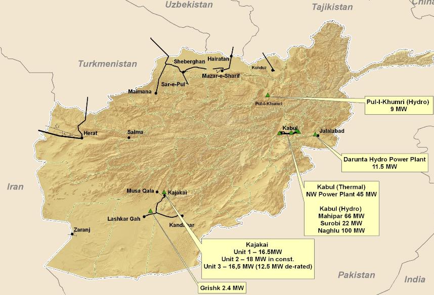 نیروگاه های خورشیدی فتوولتائیک در کشورهای همسایه - افغانستان